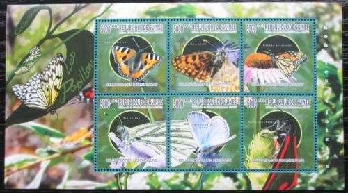 Poštovní známky Guinea 2010 Motýli Mi# 7515-20 Kat 12€