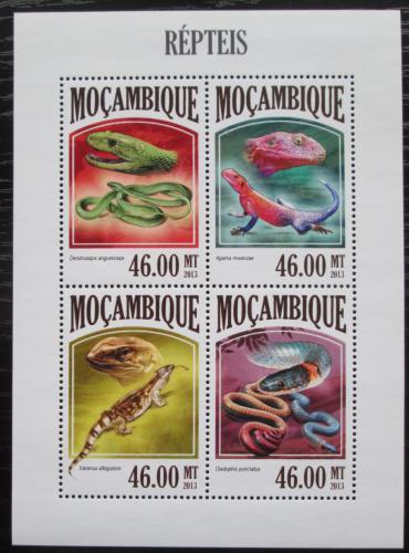 Poštovní známky Mosambik 2011 Obojživelníci a plazi Mi# 6807-10 Kat 11€