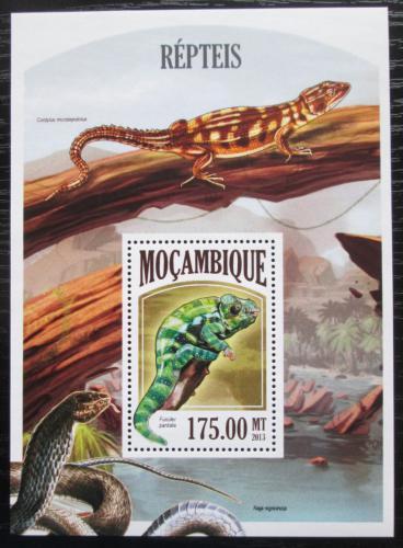 Poštovní známka Mosambik 2011 Obojživelníci a plazi Mi# Block 801 Kat 10€