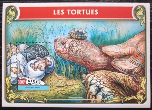 Poštovní známka Niger 2016 Želvy Mi# Block 551 Kat 12€