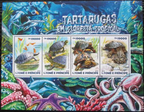 Poštovní známky Svatý Tomáš 2015 Želvy Mi# 6141-44 Kat 7.50€