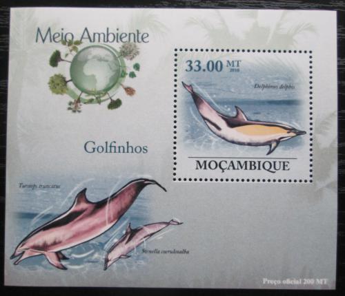 Poštovní známka Mosambik 2010 Delfíni DELUXE Mi# 3608 Block