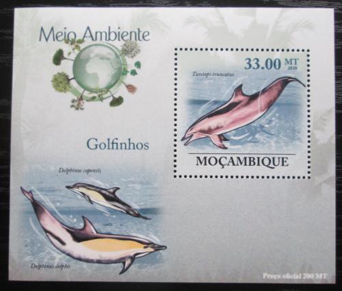 Poštovní známka Mosambik 2010 Delfíni DELUXE Mi# 3609 Block
