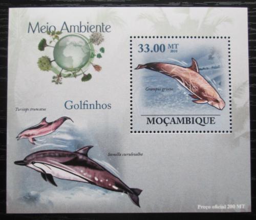 Poštovní známka Mosambik 2010 Delfíni DELUXE Mi# 3610 Block