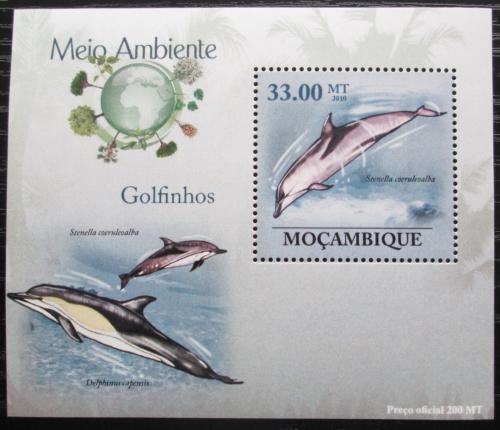 Poštovní známka Mosambik 2010 Delfíni DELUXE Mi# 3612 Block