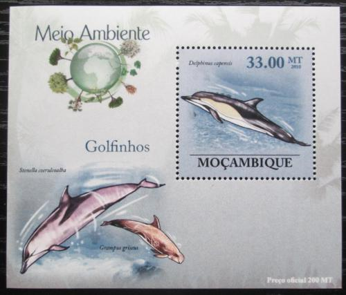 Poštovní známka Mosambik 2010 Delfíni DELUXE Mi# 3613 Block