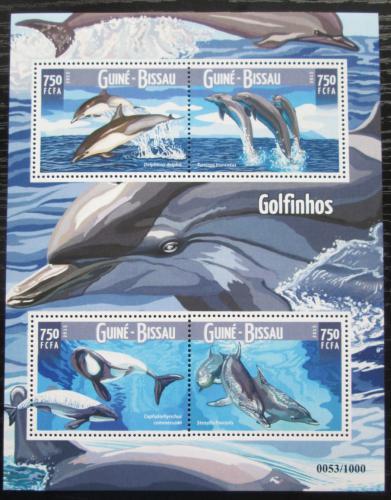 Poštovní známky Guinea-Bissau 2015 Delfíni Mi# 8273-76 Kat 11€