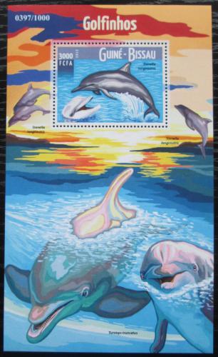 Poštovní známka Guinea-Bissau 2015 Delfíni Mi# Block 1434 Kat 11€