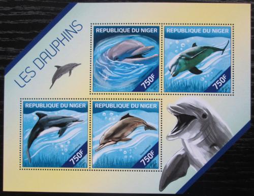 Poštovní známky Niger 2014 Delfíni Mi# 2865-68 Kat 12€