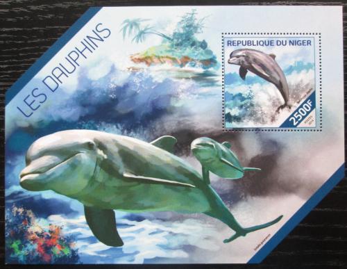 Poštovní známka Niger 2014 Delfíni Mi# Block 315 Kat 10€
