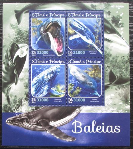 Poštovní známky Svatý Tomáš 2016 Velryby Mi# 6641-44 Kat 12€