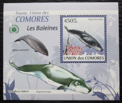 Poštovní známka Komory 2009 Velryby DELUXE Mi# 2450 Block