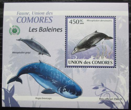 Poštovní známka Komory 2009 Velryby DELUXE Mi# 2451 Block