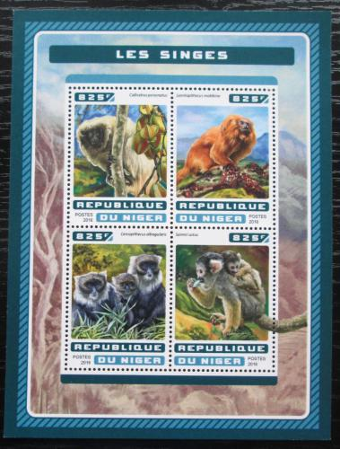 Poštovní známky Niger 2016 Opice Mi# 4617-20 Kat 13€
