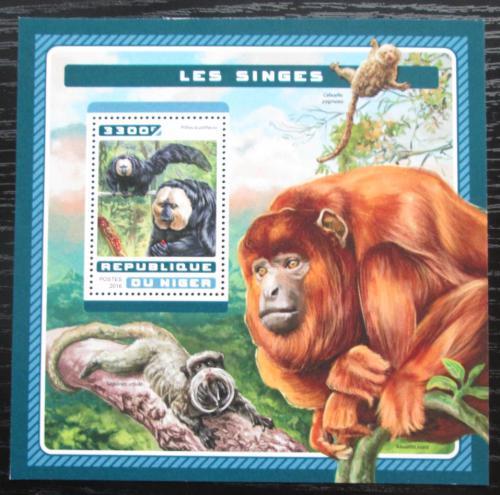 Poštovní známka Niger 2016 Opice Mi# Block 628 Kat 13€