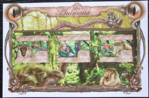 Poštovní známky Guinea 2013 Opice Mi# 9861-63 Kat 20€