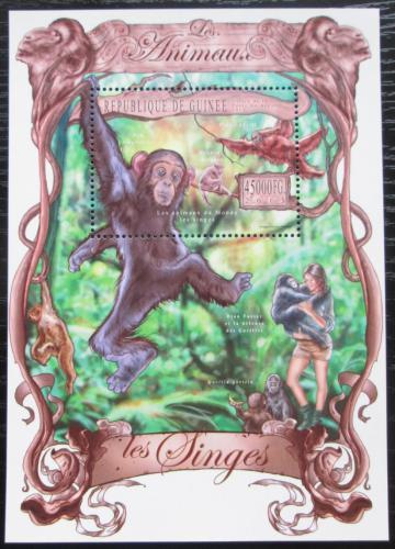 Poštovní známka Guinea 2013 Opice Mi# Block 2240 Kat 18€