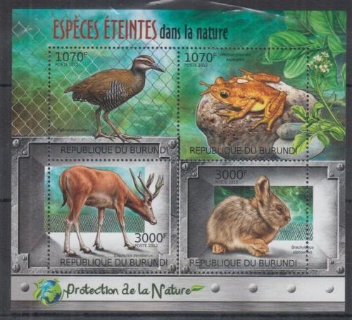 Poštovní známky Burundi 2012 Ohrožené druhy Mi# 2585-88 Kat 10€