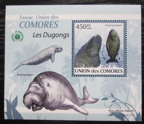 Poštovní známka Komory 2009 Dugong DELUXE Mi# 2442 Block