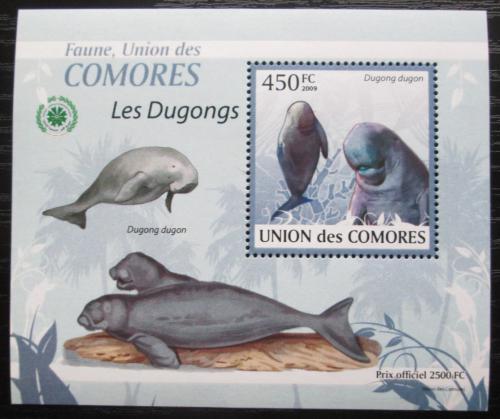 Poštovní známka Komory 2009 Dugong DELUXE Mi# 2444 Block