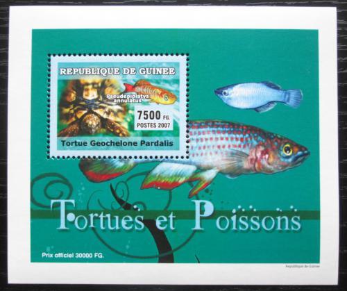 Poštovní známka Guinea 2007 Ryby a želvy DELUXE Mi# 4675 Block