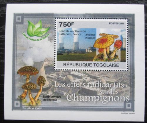 Poštovní známka Togo 2011 Radioaktivní houby DELUXE Mi# 3799 Block