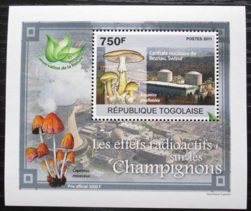 Poštovní známka Togo 2011 Radioaktivní houby DELUXE Mi# 3802 Block