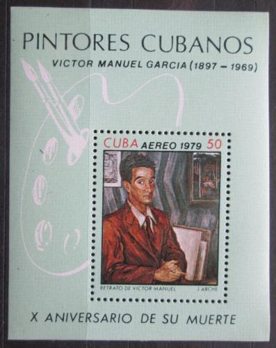 Poštovní známka Kuba 1979 Umìní, Victor Manuel Mi# Block 60
