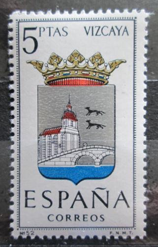 Poštovní známka Španìlsko 1966 Znak Vizcaya Mi# 1609