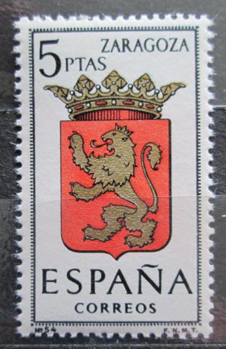 Poštovní známka Španìlsko 1966 Znak Zaragoza Mi# 1623