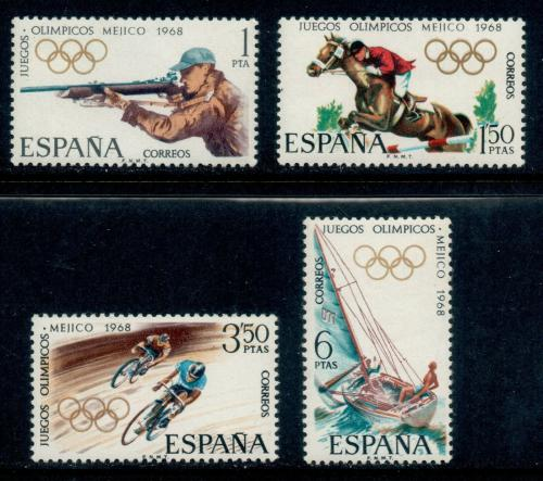 Poštovní známky Španìlsko 1968 LOH Mexiko Mi# 1777-80