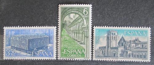 Poštovní známky Španìlsko 1969 Klášter Las Huelgas, Burgos Mi# 1840-42
