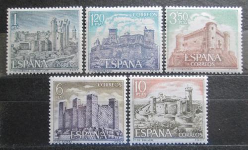 Poštovní známky Španìlsko 1970 Hrady Mi# 1866-70