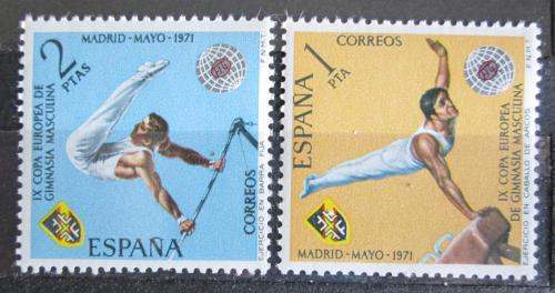 Poštovní známky Španìlsko 1971 ME v gymnastice Mi# 1929-30