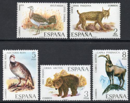 Poštovní známky Španìlsko 1971 Iberská fauna Mi# 1931-35