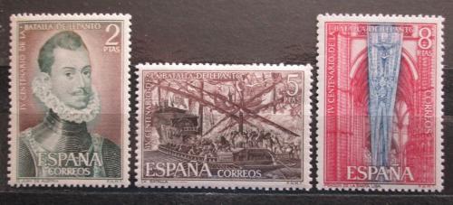Poštovní známky Španìlsko 1971 Námoøní bitva o Lepanto, 400. výroèí Mi# 1950-52