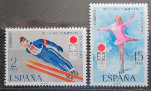 Poštovní známky Španìlsko 1972 ZOH Sapporo Mi# 1969-70