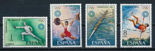 Poštovní známky Španìlsko 1972 LOH Mnichov Mi# 1993-96