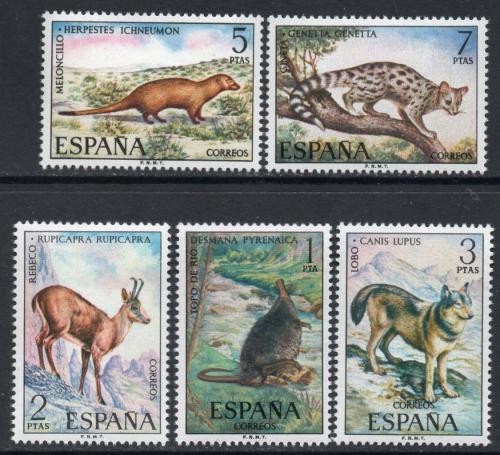 Poštovní známky Španìlsko 1972 Iberská fauna Mi# 1997-2001