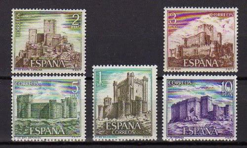 Poštovní známky Španìlsko 1972 Hrady Mi# 1988-92 Kat 7.50€