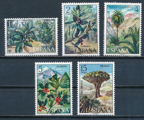 Poštovní známky Španìlsko 1973 Flóra Kanárských ostrovù Mi# 2015-19