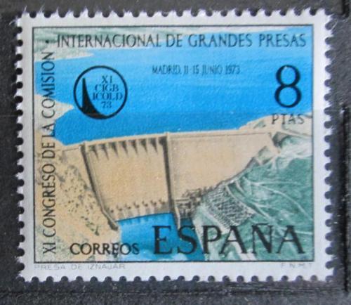 Poštovní známka Španìlsko 1973 Pøehrada u Iznájar Mi# 2028