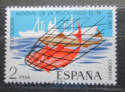 Poštovní známka Španìlsko 1973 Svìtová výstava rybolovu Mi# 2039