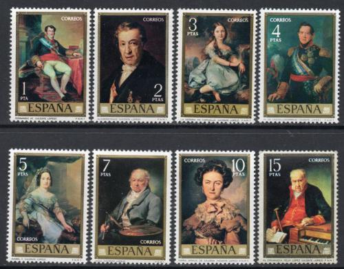 Poštovní známky Španìlsko 1973 Umìní, Vicente López Portaòa Mi# 2041-48