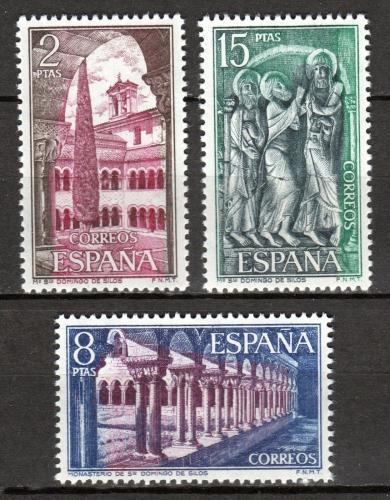 Poštovní známky Španìlsko 1973 Klášter Santo Domingo, Burgos Mi# 2054-56