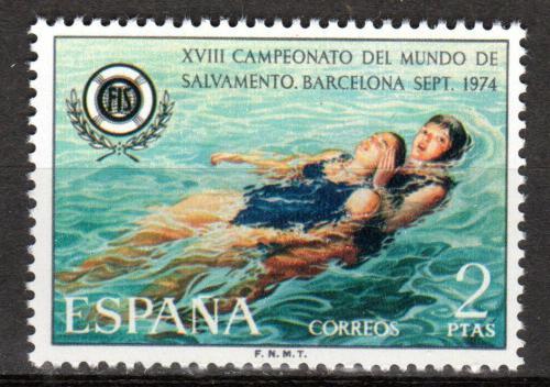 Poštovní známka Španìlsko 1974 Záchranáøi Mi# 2097