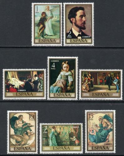 Poštovní známky Španìlsko 1974 Umìní, Eduardo Rosales Mi# 2098-2105