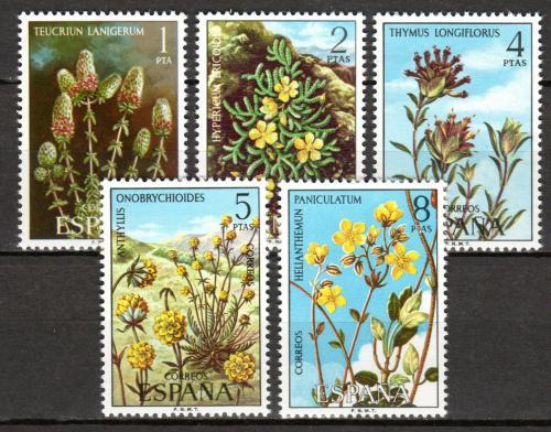 Poštovní známky Španìlsko 1974 Flóra Mi# 2115-19