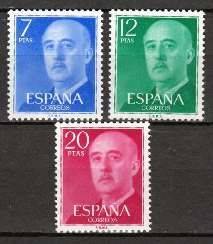 Poštovní známky Španìlsko 1974 Generál Franco Mi# 2120-22