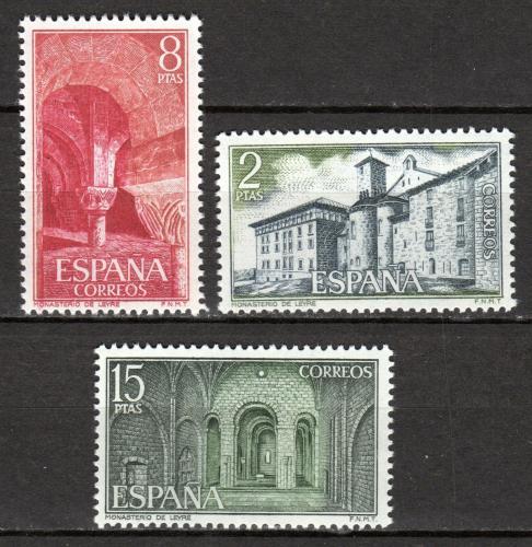 Poštovní známky Španìlsko 1974 Kláštery a opatství Mi# 2123-25
